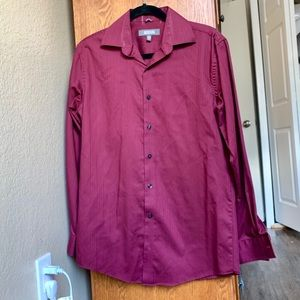 Maroon button down